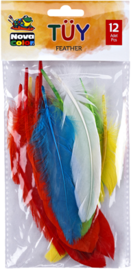 peří mix barev 12ks NC-750(8680628008033)