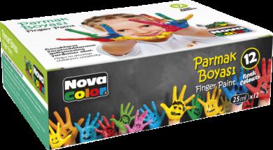 barvy prstové NC-460 12ks 25ml(8681861000280)