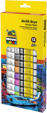 barvy akrylové NC-2004 12ks 12ml(8681861004769)