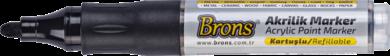 popisovač akrylový černý BR-4015(8681861007166)
