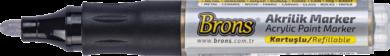popisovač akrylový stříbrný BR-4021(8681861007227)