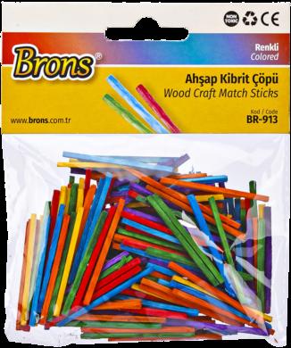 zápalková dřívka BR-913 mix barev(8681861007401)