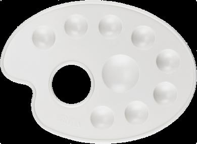 paleta výtvarná M bílá BR-217(8697405221653)