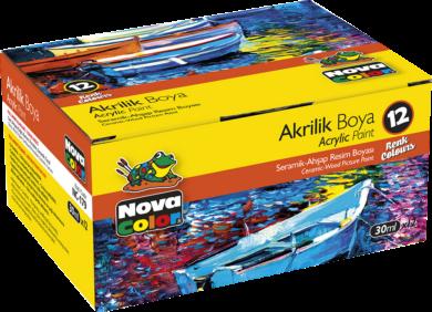 barvy akrylové NC-179 sada 12x30ml(8697405224289)