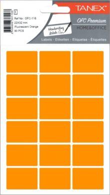 etikety v sáčku neon 22 x 32 oranžové 90ks OCF-116(8698806381168)