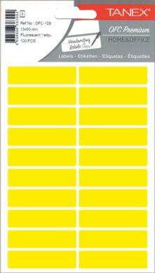 etikety v sáčku neon 13 x 50 žluté 100ks OFC-109(8698806383094)