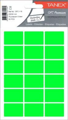 etikety v sáčku neon 22 x 32 zelené 90ks OCF-116(8698806384169)