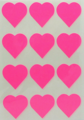 a samol.STC-302 srdce fluo růžové 31 x 31 60ks(8698806752630)