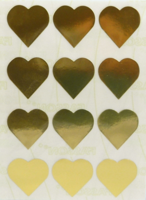 a samol.STC-303 srdce zlaté 31 x 31 60ks(8698806752654)
