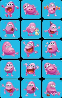 a samol.STC-106 příšerka růžová 30 x 28 45ks(8698807750550)