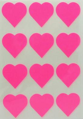 a samol.STC-302 srdce fluo růžové 31 x 31 60ks(8698807752630)