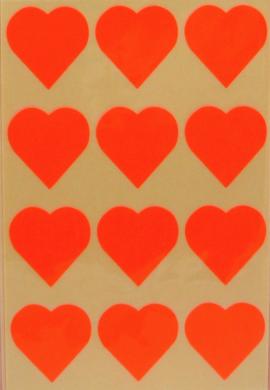 a samol.STC-301 srdce fluo oranžové 31 x 31 60ks(8698807754480)