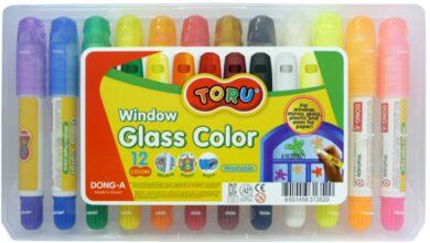 barvy tuhé TORU na sklo 12ks(8801456313520)