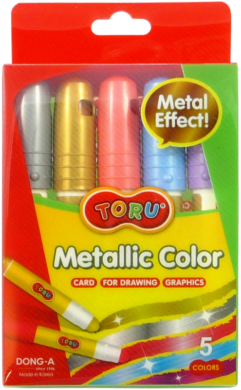 barvy tuhé TORU Metallic  5ks(8801456313698)