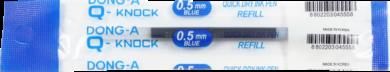 náplň Q - knock 0,5 modrá - Quick Dry Ink(8802203045558)