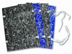 desky s tkanicí A4 černé mráček mramor 27102
