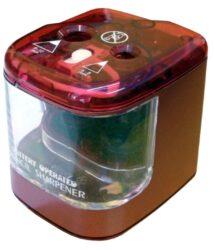 ořezávátko stolní elektrické-ořezávátko na 4 x 1,5 V baterie AA nebo adaptér 6V