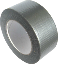 lepící páska textilní 48 x 25 stříbrná