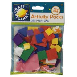 žDO pěnová guma CPT 4141104 výseky čtverce 75ks mix barev