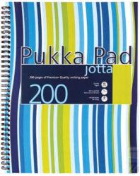 blok PUKKA JOTTA spir. A4 200str. linka JP018 (106)-Poznámkový blok s boční spirálou, A4 100 listů, linkovaný. Perforované stránky. Papír 80g/m2.