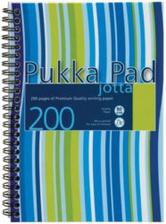blok PUKKA JOTTA spir. A5 200str. linka JP021 (113)-Poznámkový blok s boční spirálou, A5 100 listů, linkovaný. Perforované stránky. Papír 80g/m2.