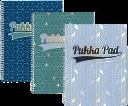 blok PUKKA A4 3007-9 GLE Jotta spir. 200str.linka-Spirálový blok Pukka Pad Glee formátu A4+,  mix barev - PRODEJ PO BALENÍ