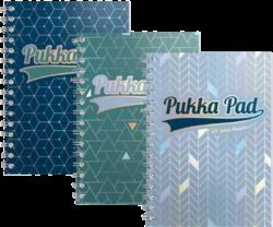 blok PUKKA A5 3010-12 GLE Jotta spir. 200str.linka-Spirálový blok Pukka Pad Glee formátu A5,  mix barev - PRODEJ POUZE PO BALENÍ