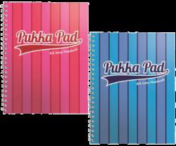 blok PUKKA A4 8541-42 VOG Jotta proužky spir. 200str.linka-Spirálový blok Pukka Jotta Pad Stripe Vogue formátu A4, mix barev - PRODEJ POUZE PO BALENÍ
