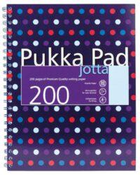 žblok PUKKA DOTS spir. A4 200str. linka 6313-Poznámkový blok s boční spirálou, A4 100 listů, linkovaný. Perforované stránky. Papír 80g/m2.