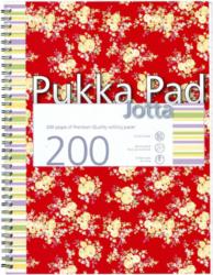 blok PUKKA  JOTTA FLORAL 7288 spir. A4 200str. linka-Poznámkový blok s boční spirálou, A4 100 listů, linkovaný. Perforované stránky. Papír 80g/m2.