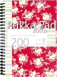 žblok PUKKA  JOTTA FLORAL 7289 spir. A5 200str. linka-Poznámkový blok s boční spirálou, A5 100 listů, linkovaný. Perforované stránky. Papír 80g/m2.