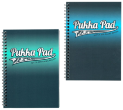 blok PUKKA Electra 8240-ELC spir. A5 200str. linka (401)-poznámkový blok A5 s boční spirálou 200 linkovaných stran perforované stránky papír 80g/m2.