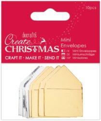 DO obálky PMA 157964 mini metalické 10ks Create Christmas*