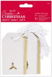 žDO jmenovky PMA 105925 vánoční glitrové 20ks Silver + Gold