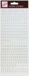 žDO samolepky ANT 810269 čísla S -  Silver on White