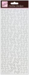 žDO samolepky ANT 810275 Border -  Silver on White