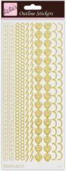 žDO samolepky ANT 810276 Border -  Gold on White
