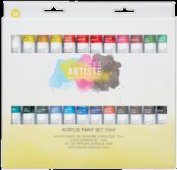 barvy akrylové DOA 551001 24ks 12ml-akrylové barvy základní