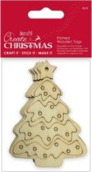 DO dekorace PMA 359914 dřevo stromek přír.4ks