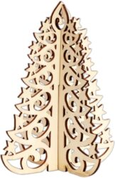 dekorace PMA 359920 stromek 3D dřevo(5038041058075)
