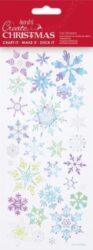 DO samolepky PMA 828906 vánoční Blue Snowflakes