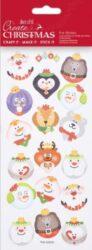 DO samolepky PMA 828909 vánoční Face Baubles