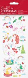 DO samolepky PMA 828916 vánoční Unicorn Rainbows