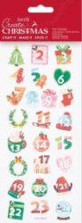 DO samolepky PMA 828917 vánoční Advent Numbers