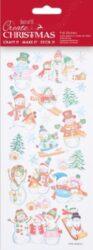 DO samolepky PMA 828920 vánoční Ski Snowmen