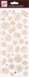 DO samolepky ANT 810281 Flowers Rose Gold On White