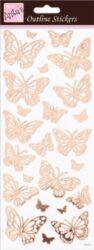 DO samolepky ANT 810284 Butterflies Rose Gold On White