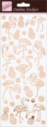 DO samolepky ANT 810285 Flamingos Rose Gold On White