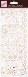 DO samolepky ANT 810287 Hearts Rose Gold On White