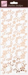 DO samolepky ANT 810288 Fancyfull Floral Corners Rose Gold On White